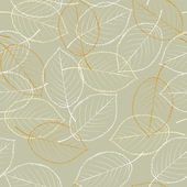 Seamless background leaves — Vector de stock