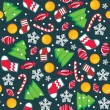 Christmas seamless pattern — Vector de stock #7913710