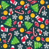 Christmas seamless pattern — Vecteur