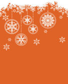 Christmas background snowflakes — Stock Vector