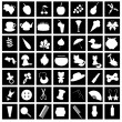 Set with many different icons — Stockvektor