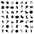 Set with many different icons - Stock Vector