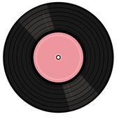 Vinyl-lp auf weißem hintergrund — Stockvektor
