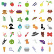 Set with many different objects — Stock Vector