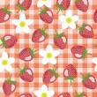 Seamless background with strawberry — Stockvektor