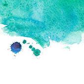 Watercolor sea wave — Stock Photo