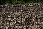 Gabion wall — Stock Photo