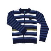 Stripes boy's knit cardigan — 图库照片