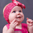 Closeup portrait of little baby girl — Stock Photo