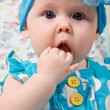 Portrait of beautiful infant girl — Stock Photo