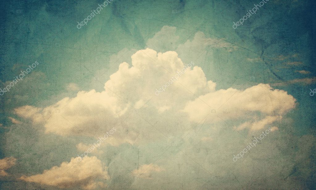 Blue sky with some white puffy clouds — Stock Photo #7401139