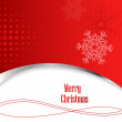Abstract red christmas background - Stock Photo