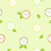 Citrus seamless pattern — Stock Photo