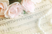 Romantic melody - vintage background — Stock Photo