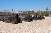 Set of canons in the fortress — Stock Photo