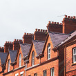 Roof of townhouse - Stock Photo