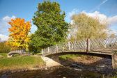 Ponte sopra il fiume lososinka — Foto Stock