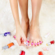 Feet in toe separators — Stock Photo #7109250
