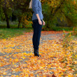 Girl in autumn park — Stock Photo #7479670