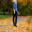 Girl in autumn park — Stock Photo #7479678