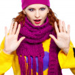 Beautiful girl in warm clothing - Stock Photo