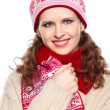Stock Photo: Beautiful girl with winter clothes