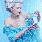 Frozen fairy with toyhouse — Stock Photo #7567049