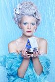 Замороженные фея с toyhouse — Стоковое фото