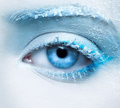 Frozen eye zone makeup — Stock Photo