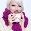 Woman with cup of coffee — Stock Photo #7580744