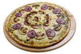 Pizza with mushrooms — Photo