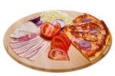 成分のピザ — ストック写真