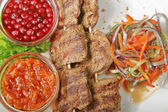 Grilled meat with cranberry — Foto Stock
