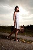 Mujer al aire libre — Foto de Stock