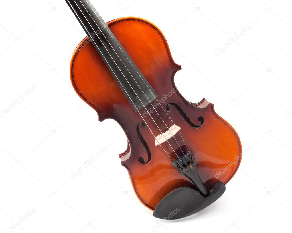 Violin on white background — Stock Photo #6936584
