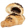 Croissants with chocolate — Stock Photo #7466692