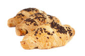 Croissants with chocolate — Stock Photo