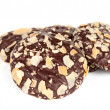 Cookies with chocolate and almonds — Stock Photo