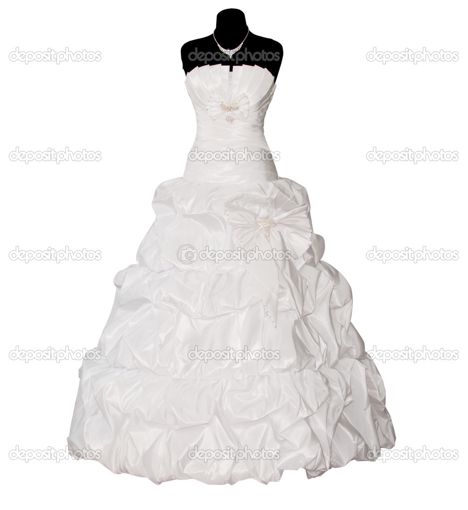 Wedding dress isolated on white background — Stock Photo #7760888