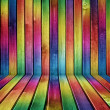 Creative multicolored wood background — Stock Photo