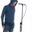 Rock singer with microphone — Stock Photo #7173735