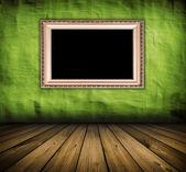 Vintage groene interieur — Stockfoto
