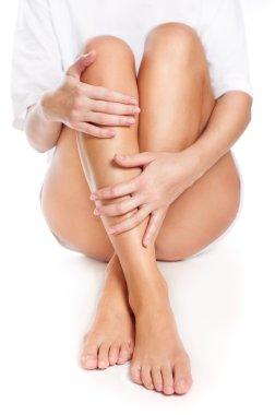 Legs being massaged