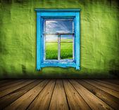 Vintage green interior — Stock Photo
