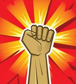 Vector revolution hand — Stock Vector