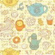 Royalty-Free Stock Vector Image: Seamless tea pattern