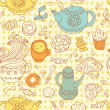 Seamless tea pattern — Stock Vector #7333061