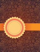 Vector tea background with ribbon — Stockvektor