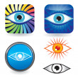 Eye icon set - Stock Vector