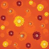 夏花のシームレスなパターン — ストックベクタ